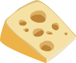 A wedge of Swiss cheese